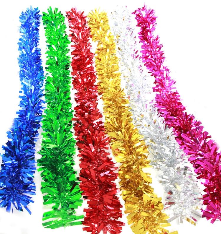 Xmas Tree Decorations With Ribbons: 10pcs/lot 2M Christmas Tree Ribbon Decorations Garland
