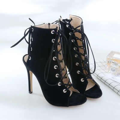 2018 ใหม่ trade suede ties, slim รองเท้าส้นสูงเซ็กซี่รองเท้าเย็นรองเท้าผู้หญิง zg938-160