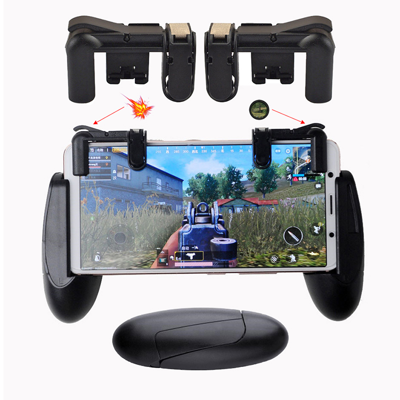 PUBG Mobile Game Phone Gamepad Controller Gaming Joystick Aim Key Shooter Trigger Fire Button Game Pad Handle Stand STG FPS 1pc new titanium plate sheet ti metal for industry tool 100 100 0 5