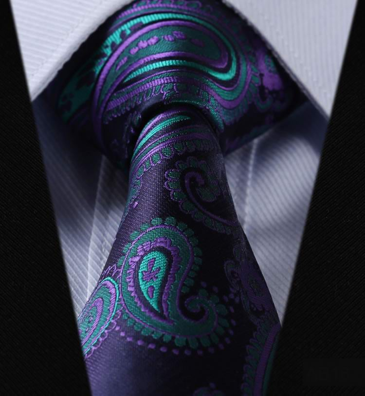2016 Free shipping Brand New Classic Striped Green Purple Letter JACQUARD WOVEN Fashion 100% Silk Men's Tie Necktie