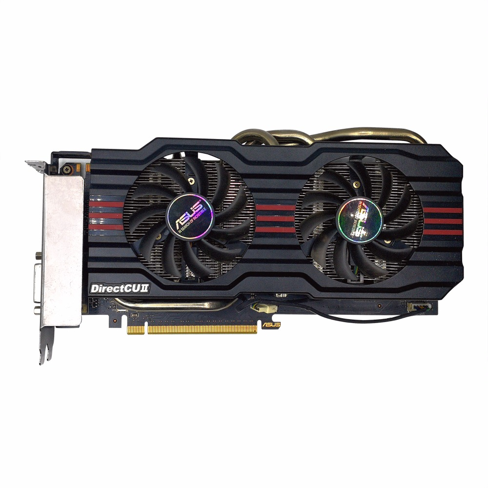 Used,original ASUS GTX660-DC2O-2GD5 2G GDDR5 192bit game Graphics Card ,100% tested good