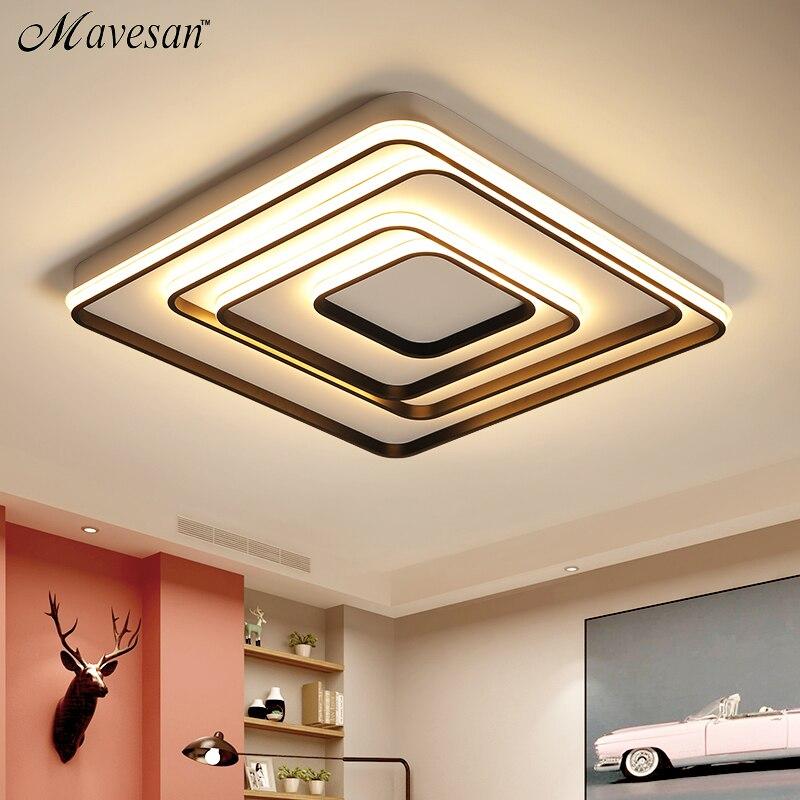 Salon Salle D'étude Chambre Moderne Led Plafonniers AC85-265V Maison Déco Plafond Lampe Appareils lamparas de techo