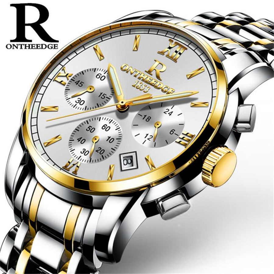 relojes hombre 2017 New Mens Watches Top Brand Luxury Sport Waterproof 30M Watch Luminous Clock Men stainless steel strap Watch relojes hombre 2017 mens watches top brand luxury carnival simple relogio automatico masculino dress stainless steel gift clock