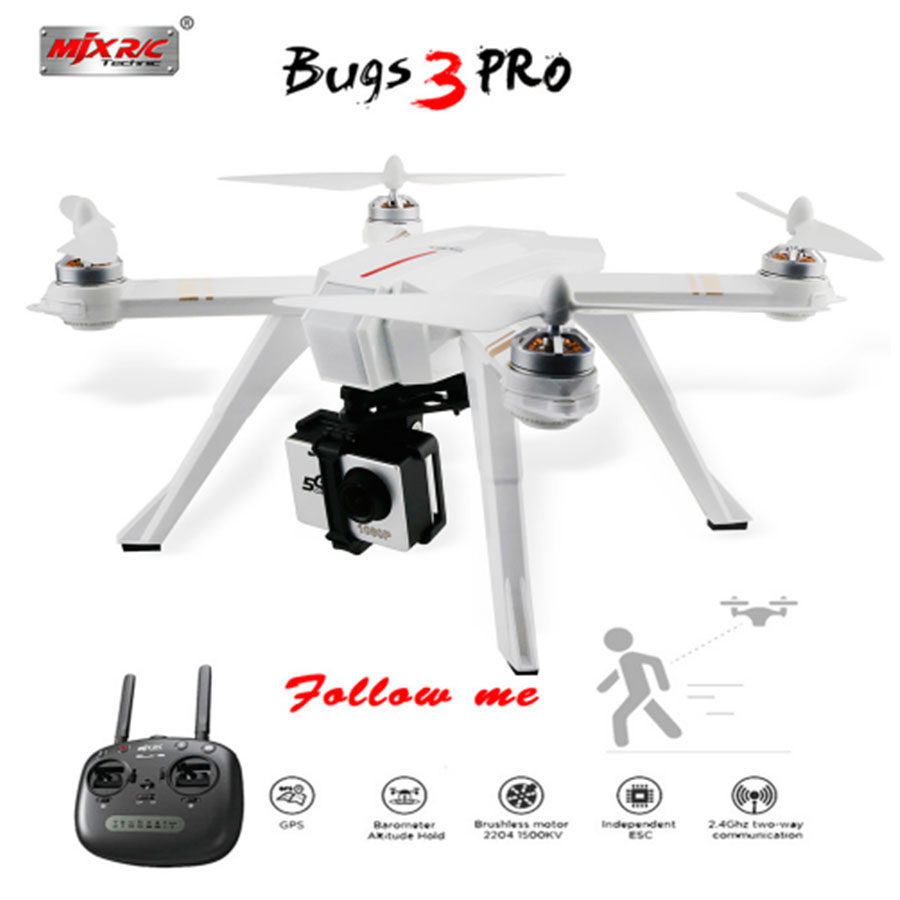 MJX GPS Drone Bugs 3Pro Brushless 2.4G 4CH Quadcopters Follow Me Function Helicopter With HD FPV WiFi Camera B3 Pro RC Toys ampeg pro svt 3pro