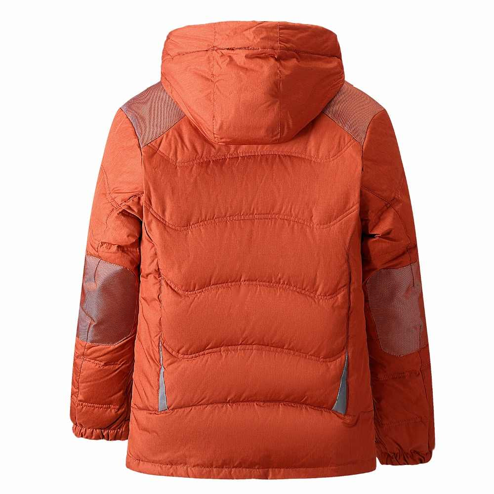 2018 новый дизайн с капюшоном мужская куртка на утином пуху однотонная брендовая Толстая ветрозащитная теплая зимняя пуховая куртка мужская верхняя одежда