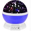 Lâmpada Led Noite Rotating Estrela Lua Céu Romântico Rotação Noite Projector de Luz Da Lâmpada de Iluminação Para a Decoração Home Art 1 PCS