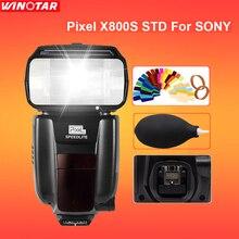 Pixel X800S X800 Стандартный GN60 2.4 Г 1/8000 S Беспроводной TTL HSS Флэш Speedlite Для Sony A7 A7S A7R A6000 A6300 A6500