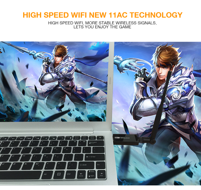US $16 4 38% OFF|ZAPO Bluetooth 4 1 Wireless AC 1200Mbps 5GHz WiFi USB 3 0  LAN Adapter High Gain Antenna Network Card For Windows Linux Systems-in