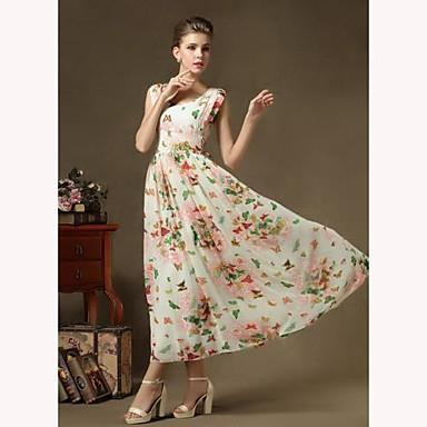 67874f0efbd0 Wayth Women's Print Chiffon Midi Dress-in Dresses from Women's Clothing on  Aliexpress.com | Alibaba Group