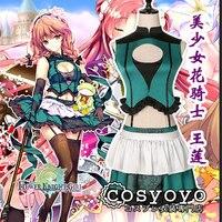 [Customize] 2018 Hot Anime FLOWER KNIGHT GIRL Sexy Lolita Dress Uniform Cosplay Costume For Women Halloween Free Shipping New.