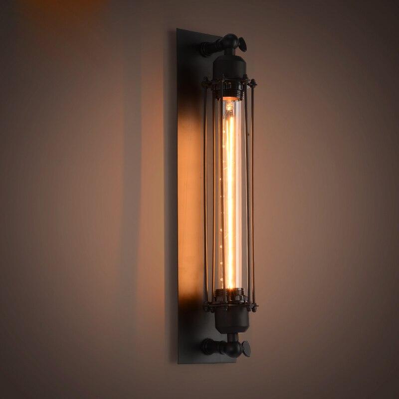 Antieke Edison lamp Opbouw wandlamp zwart Ijzer Geverfde lampenkap - Binnenverlichting