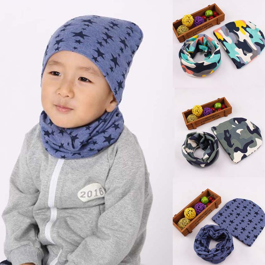 Cotton Baby Hat Set Ice Cream Love Print Cotton Cap Baby Hats Newborn Hat  Children Scarf Collar Boys Beanie Kids Cap for Girls-in Hats   Caps from  Mother ... c0a67e560044
