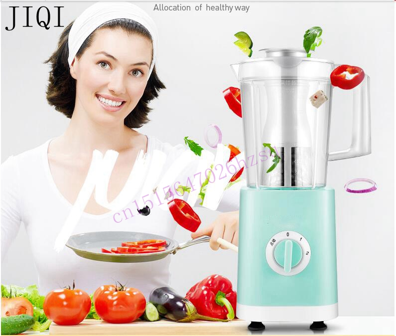 JIQI Food machine Juicer Mixer Blender processor Baby food maker Mixing milkshake Ice grinder Vegetable mincer 200W 1.2L for 3-5 commercial blender mixer juicer power food processor smoothie bar fruit electric blender ice crusher