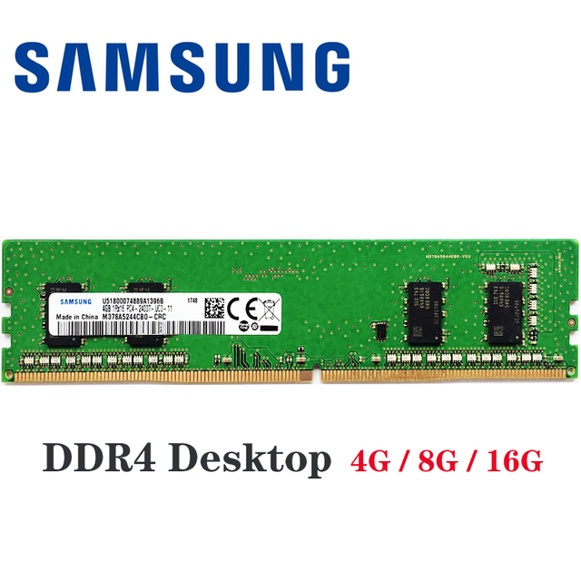 Samsung ddr4 ram 8 gb 4 GB PC4 2133 МГц или 2400 МГц 2666 2400 T или 2133 P 2666 V модуль памяти DIMM для компьютера поддерживаемая материнской платой флеш-накопитель 16Гб 8...