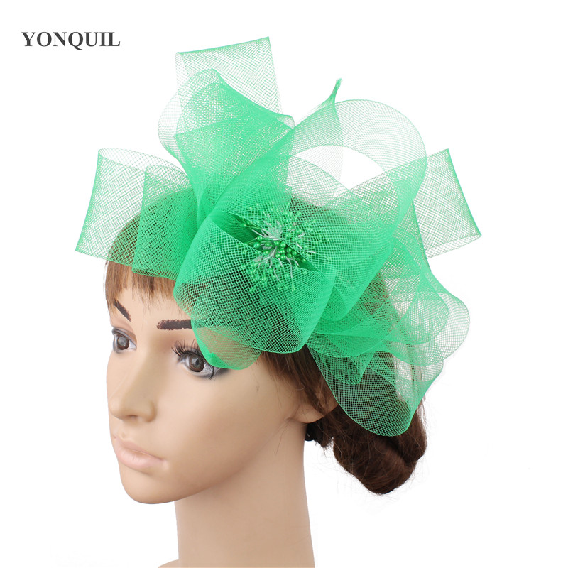 nice fascinator wedding hair accessories cocktail hats party show hats Free shipping multiple color available 12Pcs