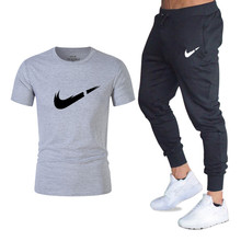 New Summer T-Shirt Men's suits 2019 Fashion Brand Short Sleeve T-Shirt set Funny Tee Shirts Hipster O-Neck Cool Tops+trousers designer tee shirts adhd hey look a squirrel t dad nag zom o neck men short funny t shirt tops summer cool funny t shirt