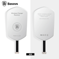 Baseus Qi Wireless Charger Receiver Micro 8pin Charging Adapter Coil Pad Receptor For iPhone 6 6s Plus 5s SE Android Qi Receiver