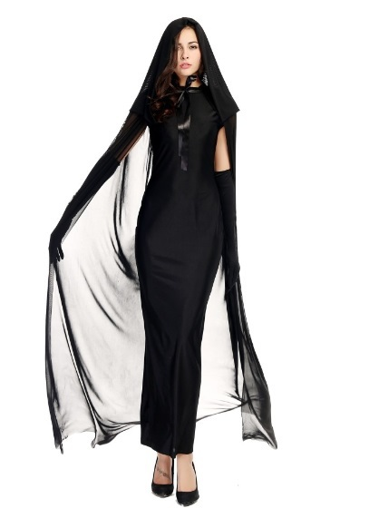 f701272304a US $15.0 |New simple design black ghost female dress costume witch cosplay  for halloween on Aliexpress.com | Alibaba Group