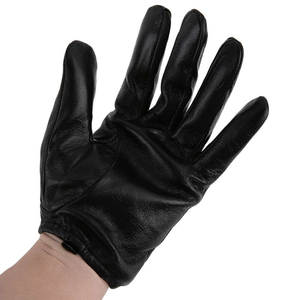 Black leather combat gloves - High Quality Men Combat Security Winter Mobile Pho