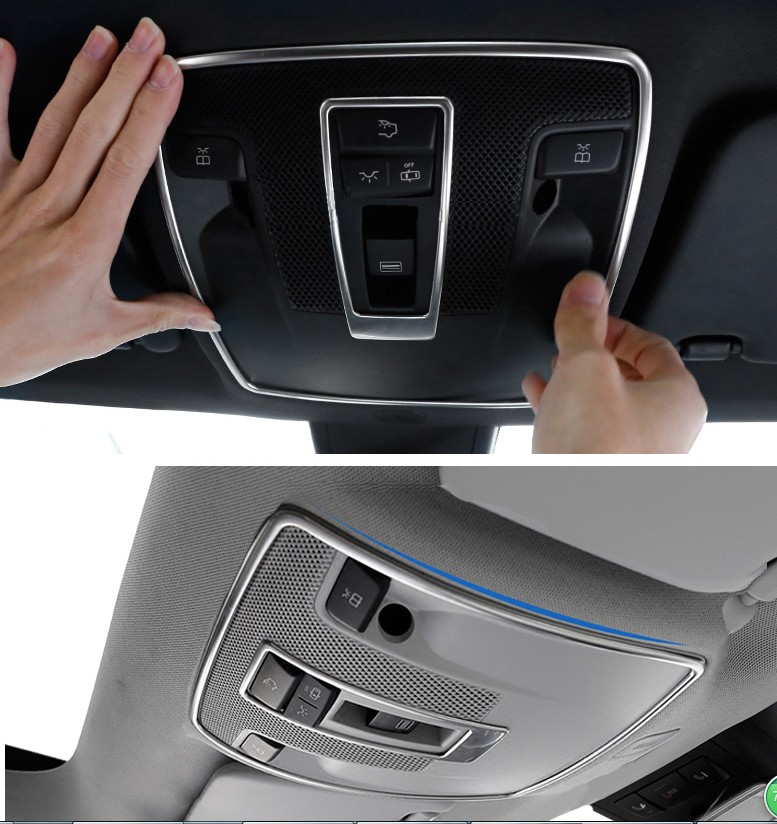 Car-styling Sunroof Light Switch Decor Trim Frame Cover for Mercedes Benz GLA CLA A B Class X156 C117 W176 W246 2015 2016 car accessories amg exhaust cover outputs pipe tail frame trim for mercedes benz glc a b e c class w205 coupe w213 w176 w246