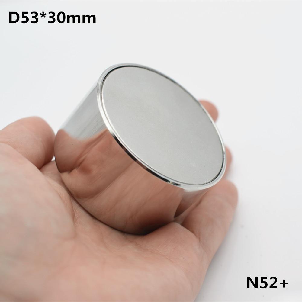 1 pz magnete Al Neodimio N52 D53x30 Super strong rotonda magnete in Terre Rare 53*30mm più forte permanente potente magnetico tazza in acciaio inox