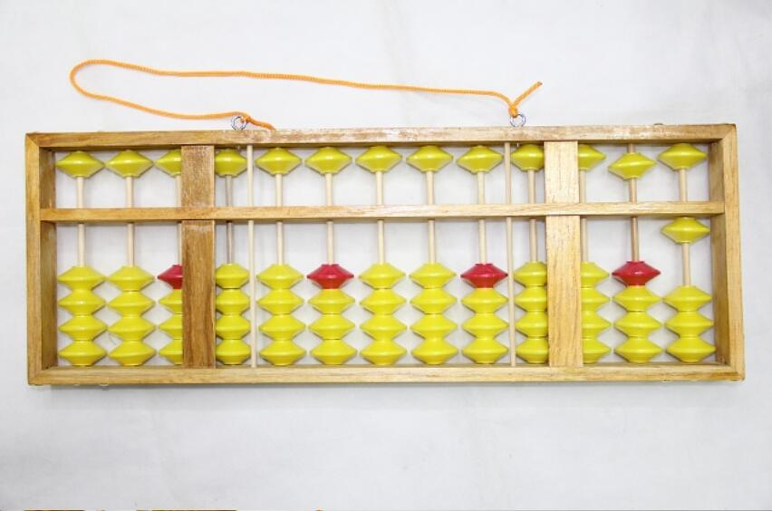 2018 BONNE 13 colonne bois cintre grande taille Boulier Chinois soroban Outil Dans L'enseignement Des Mathématiques pour le professeur et
