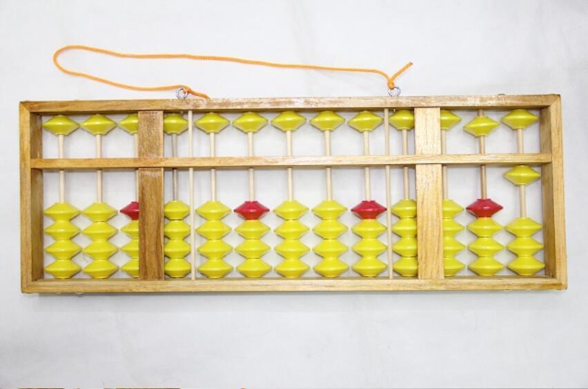 2018 GOOD 13 column wood hanger big size Abacus Chinese soroban Tool ...