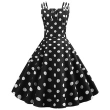 Summer Women Spaghetti Strap Midi Dress Sexy 50S 60S Polka Dot Dress Robe Casual Sleeveless White Dress Chic Top свитшот print bar формула покемона