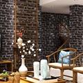 Classic Chinese style retro black brick wallpapers antique culture brick restaurant clothing brick characteristics of wallpaper