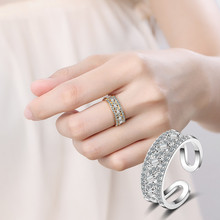 Everoyal Trendy 925 Sterling Silver Rings For Women Accessories Charm Crystal Gold Lady finger Female Bijou
