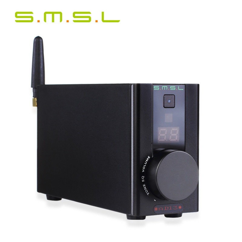 Professional SMSL AD13 Multi-Function Bluetooth 4.0 HIFI Digital Amplifier Audio Power Amplifier 30W*2 TAS5766M USB DAC Decoder smal a6 hifi digital amplifier 50wx2 dac digital 110v 220v native dsd512 usb optical coaxial lp player cd analog input