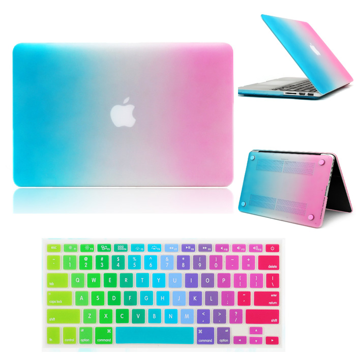 super popular 9e0ec 47009 US $12.99 |Rainbow Hard Case Cover + Keyboard Skin For Macbook Air Pro 11  12 13 15 Retina Free Shipping laptop bag-in Laptop Bags & Cases from ...