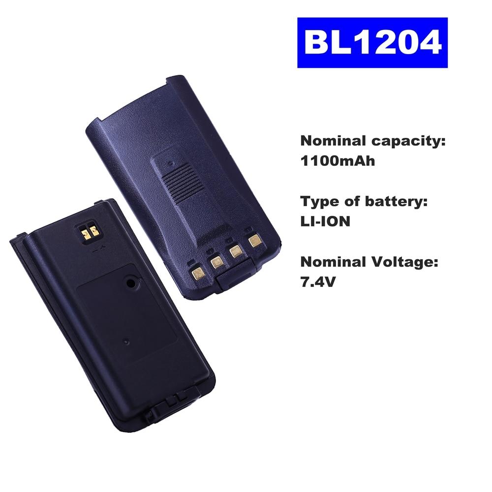 7.4V 1100mAh LI-ION Radio Battery BL1204 For HYT Walkie Talkie TC-610/620 Two Way Radio