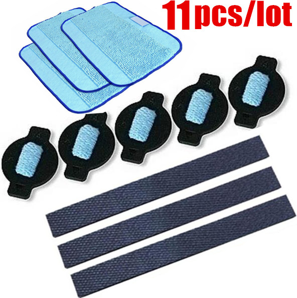 11pcs/lot robot wheel tire mop cloth water cap Replacment for iRobot braava 320 380 381 380T 390 390T Mint 4200 4205 5200 5200C