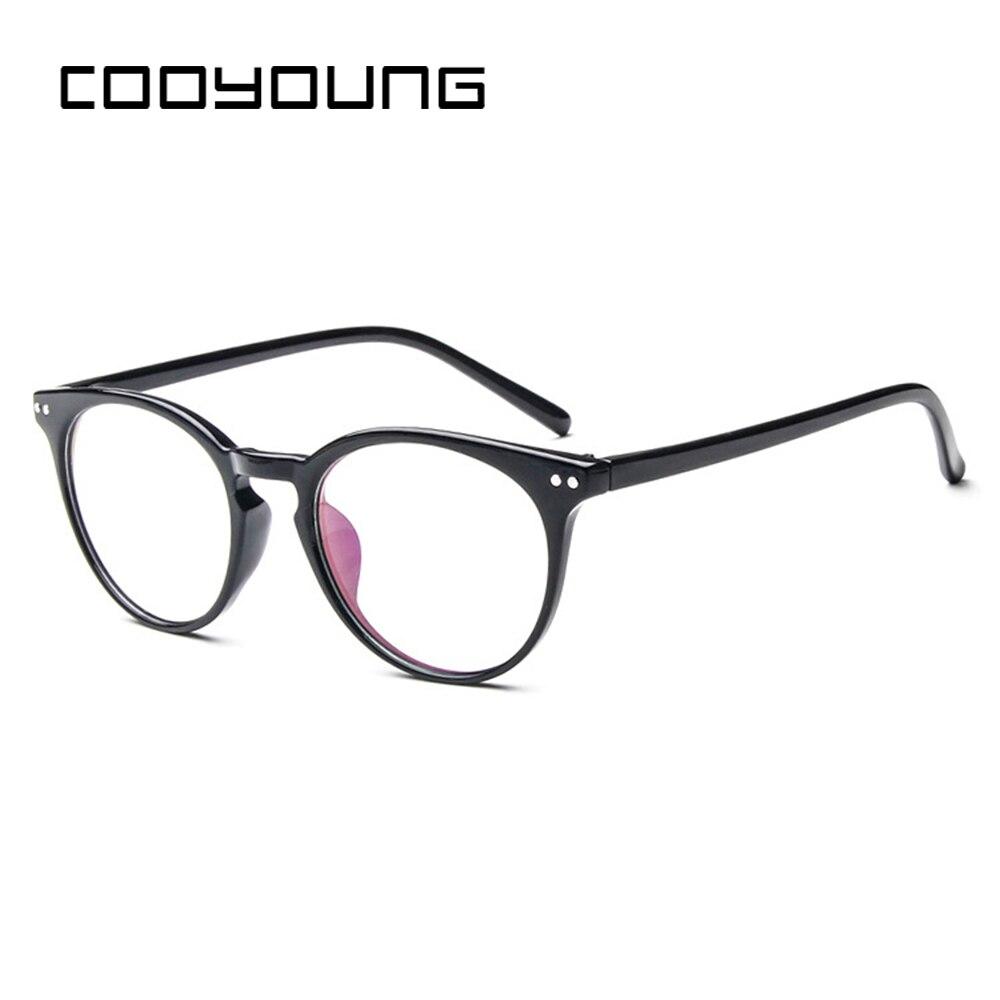 COOYOUNG Vintage Round Optical Glasses Frame Clear Computer EyeglassesWomen Oculos De Grau Myopia Prescription Eyewear