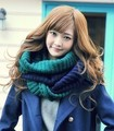 Fall and winter 2017 south Korean female 2 color matching collar Couple bump color yarn knitted collar women scarf
