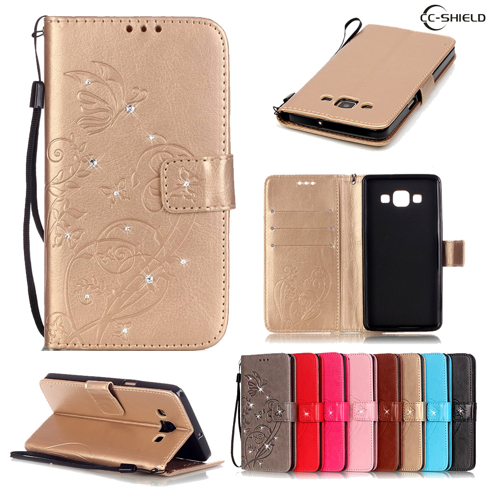 Case for <font><b>Samsung</b></font> <font><b>Galaxy</b></font> <font><b>A5</b></font> A 5 2015 500 A500 A500F <font><b>A500FU</b></font> A500H <font><b>SM</b></font>-A500 <font><b>SM</b></font>-A500F <font><b>SM</b></font>-<font><b>A500FU</b></font> <font><b>SM</b></font>-A500H Leather Diamond Phone Case image