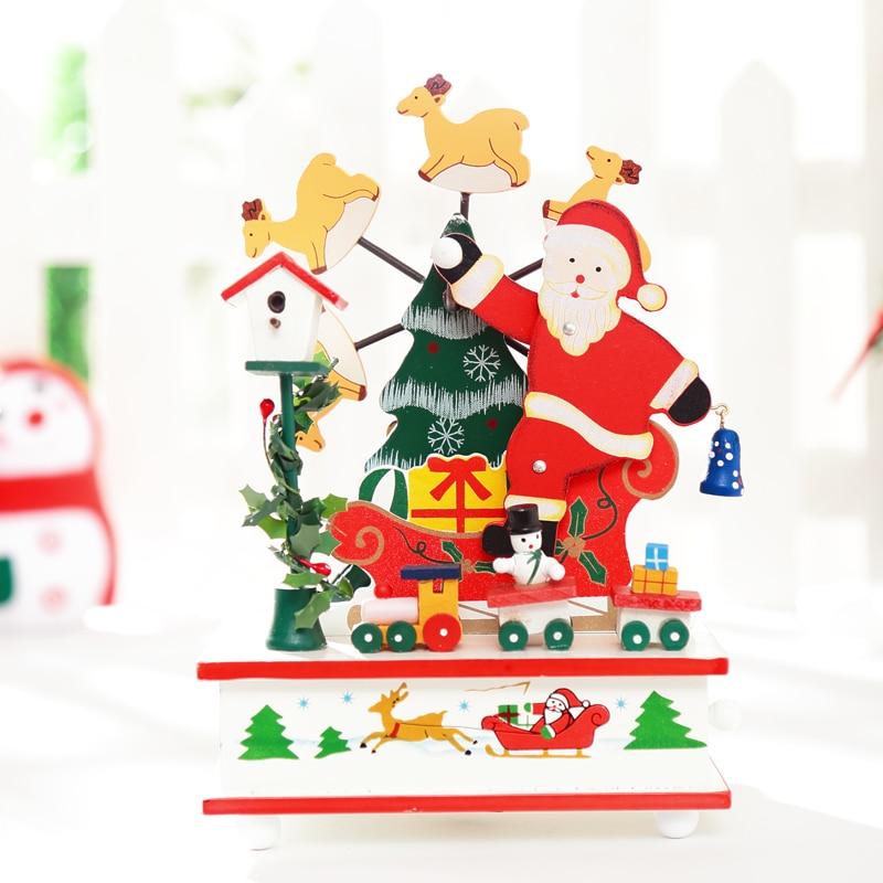 1Piece, <font><b>Ferris</b></font> Wheel Rotating music Christmas Tree Christmas Gift Music Box Xmas Indoor Decoration, Free Shipping