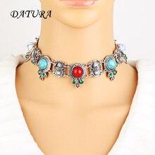 New Boho Collar Geometric Choker Necklace jewelry for women Fashion Ethnic style Bohemian necklace whole sale