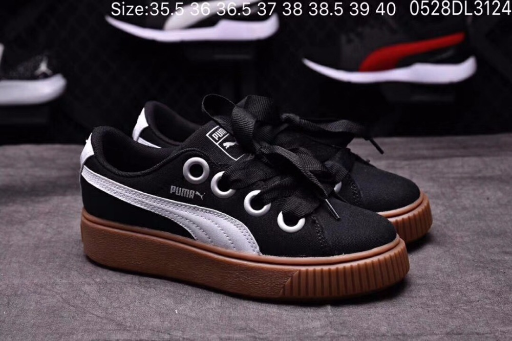 PUMA 2018 official counters with leisure shoes bowknot lace-up shoes sneakers shoes sneakers badminton shoes casual bowknot lace up jazz hat