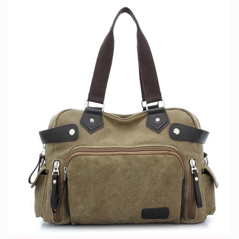 ФОТО *?Casual Large Capacity Canvas Men's Travel  Bag Pack Handbag Crossbody Shoulder Bags Messenger Bag Handle Zipper Bags