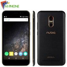 Оригинал ZTE Нубия N1 Lite NX597J 5.5 дюймов мобильный телефон 2 ГБ Оперативная память 16 ГБ Встроенная память 13MP 3000 мАч MT6737 Quad Core Android 6.0 отпечатков пальцев