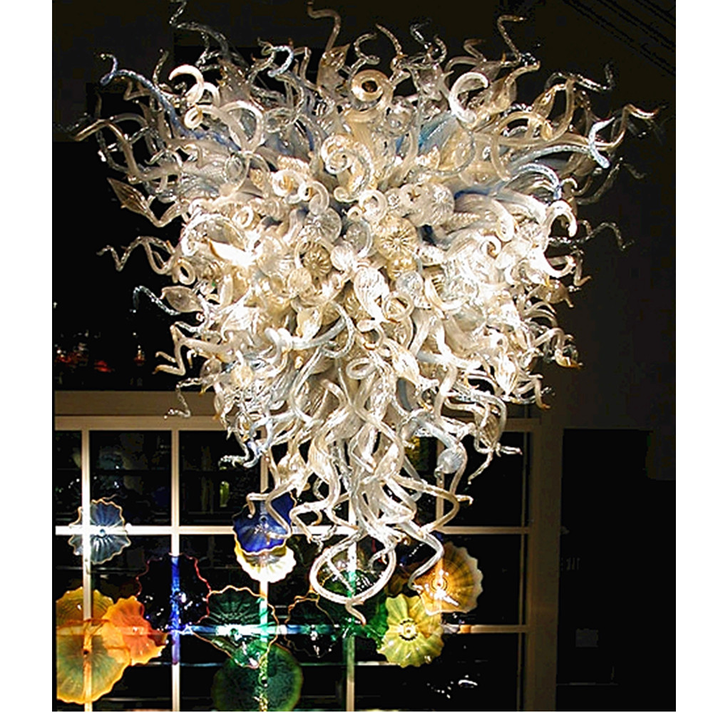 Us 1200 0 Dale Chihuly Style Hand N Borosilicate Gl Chandelier Lighting Antique Indoor Led Light Source In Pendant Lights From