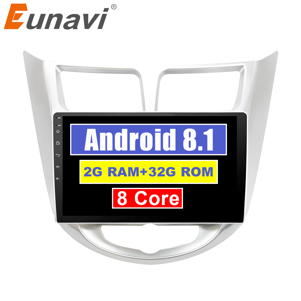 Eunavi IPS 2 din Android 8.1 Car Dvd Player For Hyundai Solaris Verna 2011-15 Radio tape  Video Gps WIFI RDS 2G+32G Octa 8 coreEunavi IPS 2 din Android 8.1 Car Dvd Player For Hyundai Solaris Verna 2011-15 Radio tape  Video Gps WIFI RDS 2G+32G Octa 8 core
