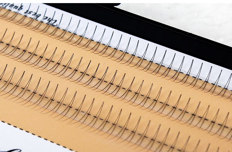 8/9/10/11/12mm 60 Bundles/Set Natural C Curl 2D Black Individual Silk Y Lash False Eyelashes Extension Beauty Tips Big Eye