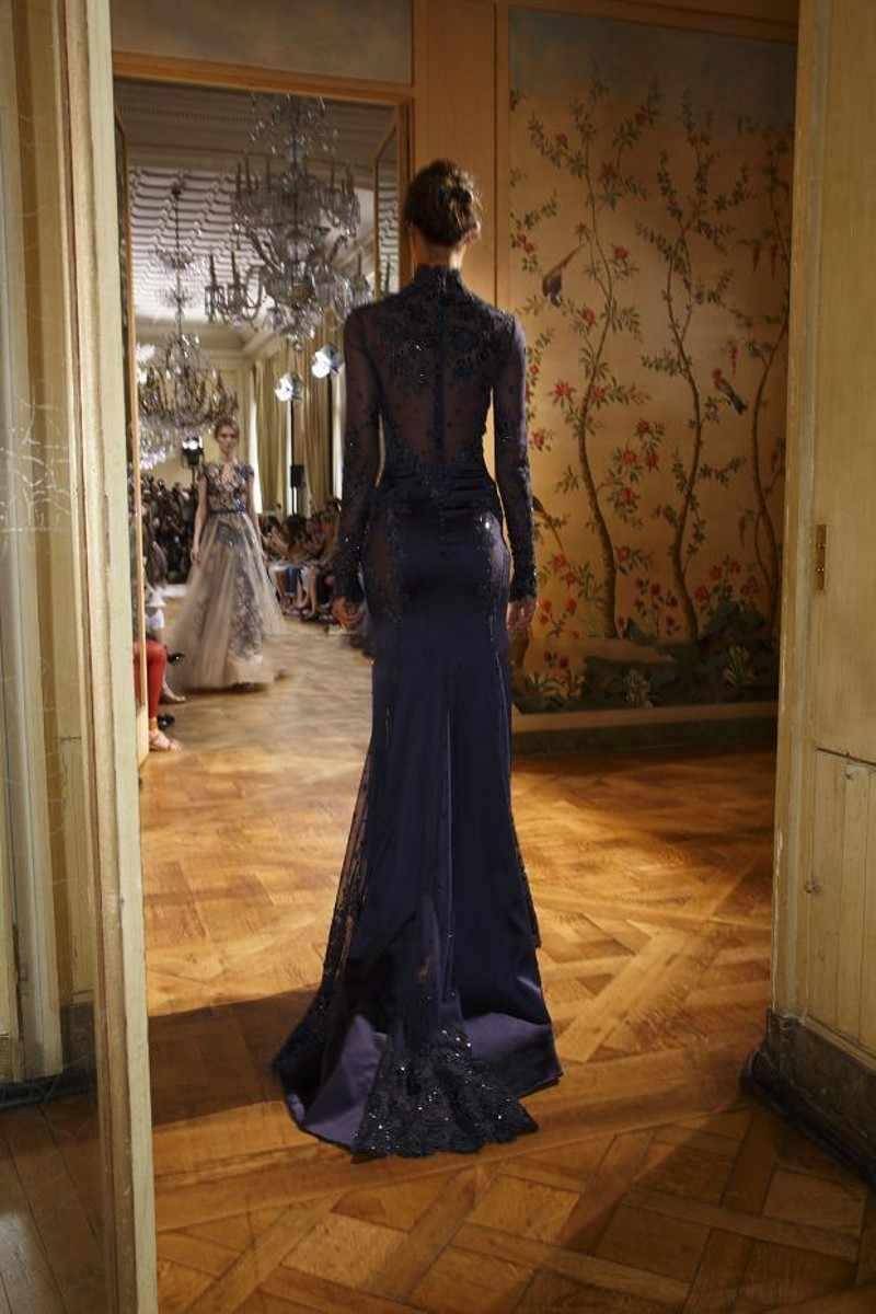 Sıcak Satış Yüksek Boyun Mermaid Arapça Ünlü Elbiseleri Kat Uzunlukta Aplikler Boncuklu Gece Elbisesi ücretsiz kargo Saten Parti elbise