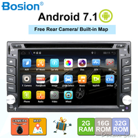 2 din android car radio tape recorder audio stereo For Universal 2din autoradio car dvd GPS Navigation Steering Wheel Wifi Map