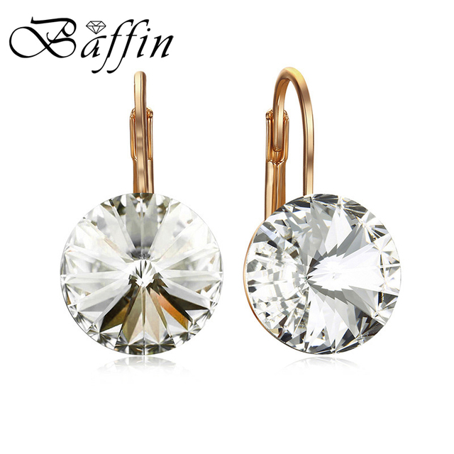 Baffin Fashion Austrian Crystal Earring Rose Gold Color Bella Dorp Earrings Crystals From Swarovski For