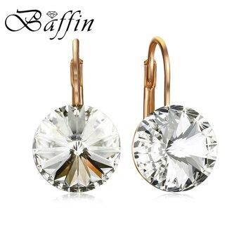 f67140679a70 BAFFIN moda austríaco pendiente cristalino del oro de Rose-color Bella Dorp  pendientes cristales de SWAROVSKI para las mujeres Bijoux regalos
