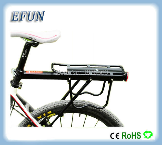 Free shipping Bicycle accessories Mountain bike rack bicycle rack luggage rack can load 50KG for fat tire bike